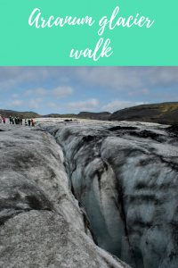 Glacier walk Iceland Arcanum