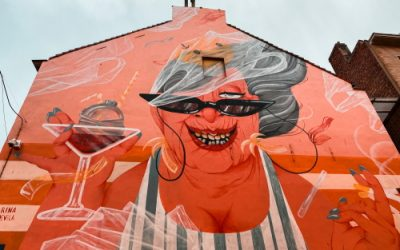 Street art in Oostende: The Crystal Ship